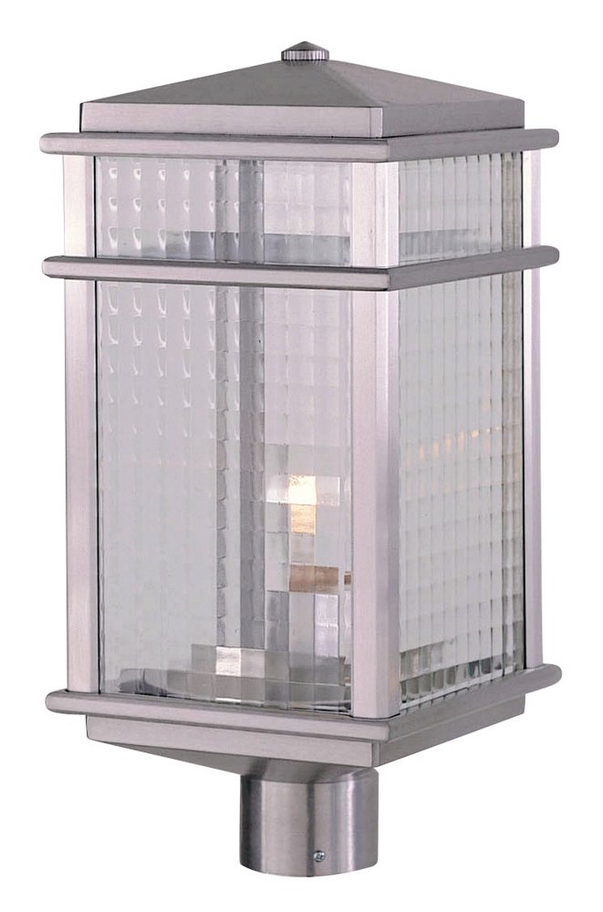 Feiss Monterey Coast Outdoor Post Lantern - 19.25H in. Brushed Aluminum