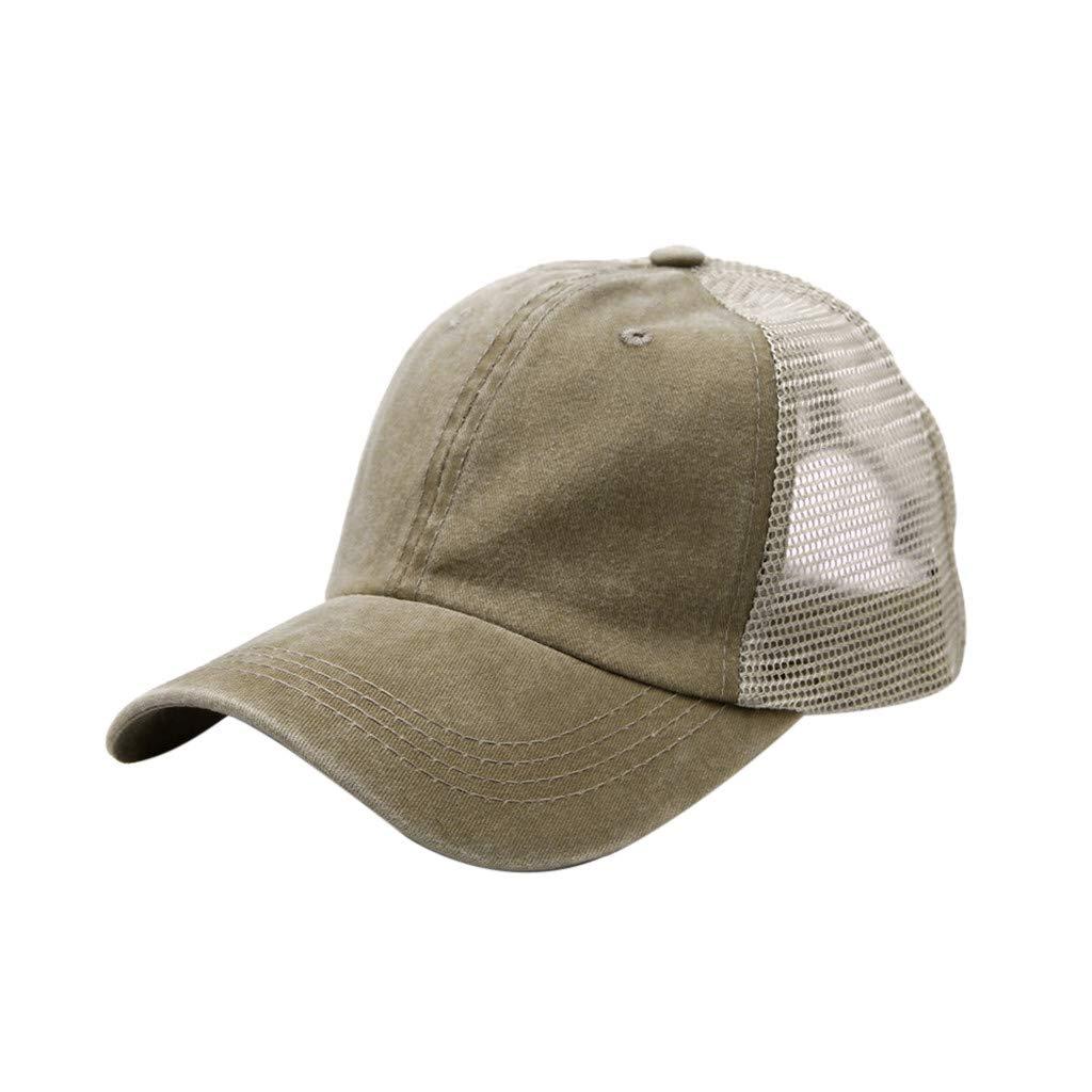 Tanlo Baseball Cap Unisex Summer Outdoors Denim Visor Adjustable Hats Sport Hats Casual Caps (Khaki, Size:Adjustable)
