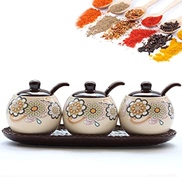 High-end Durable Stainless Steel Sugar Bowl with Lid and Sugar Spoon Versatile Seasoning Container Convenient and Practical