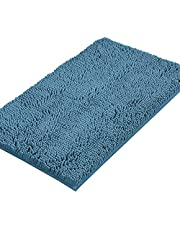 Microfiber Bath Rugs Chenille Floor Mat Ultra Soft Washable Bathroom Dry Fast Water Absorbent Bedroom Area Rugs Indoor Mats for Entryway