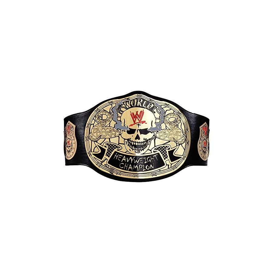 WWE Stone Cold Smoking Skull Championship Replica Title Belt Black