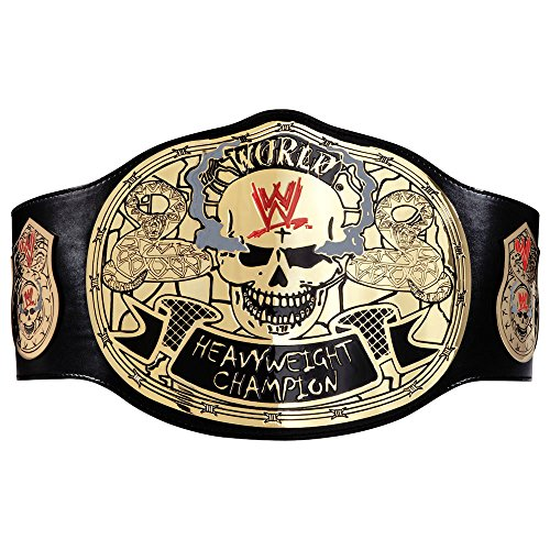 Costume World Austin Texas (WWE AUTHENTIC WEAR Stone Cold Smoking Skull Championship Replica Title Belt)
