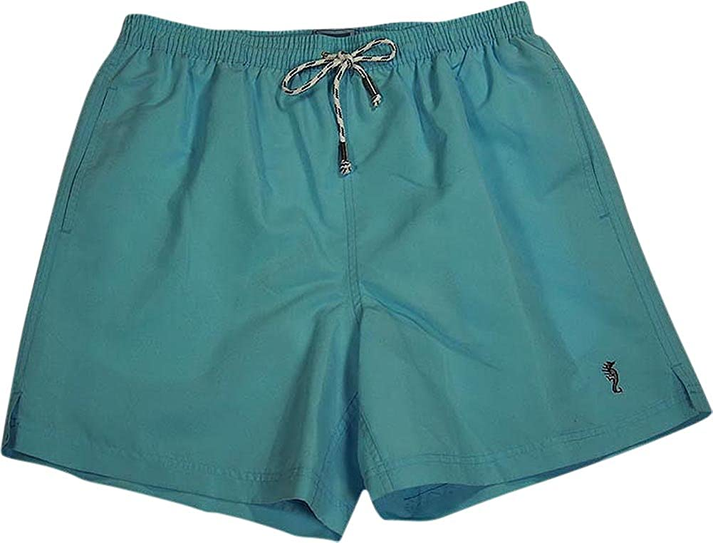 Sea Scapes by Majestic International - Big Mens Swim Suit Light Blue 36947-Medium