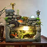 Japanese rockery fountain of micro-wind turbine landscape landscaping Stone lanterns humidifier tank home ornaments