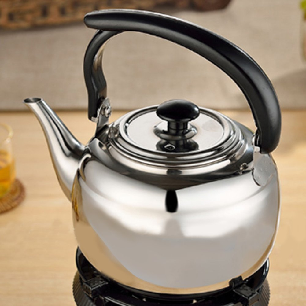 Matedepreso Stainless Steel Spirit Cooker 1L Water Kettle Tea Coffee Induction Cooker Camping Kettles Furnace Stove Whistle Teapot Tools capacity: 1L