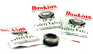 Hawkins B1010 3-Piece Pressure Cooker Safety Valve, 1.5 to 14-Liter