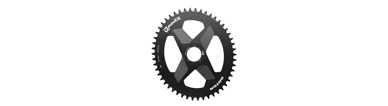Rotor Q-Ring Kettenblatt Oval Ausführung 1x DM Alu schwarz Ausführung Oval 54 Zähne 2019 Kettenblätter 63820f