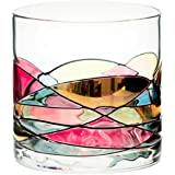 ANTONI BARCELONA Whiskey Glass 12oz - Unique Lowball Glass, Drinking Glasses, Old Fashioned Glasses, Bourbon, Scotch & Rocks Glass – Unique Gifts Set For Men, Women, Dad, Him, Groom (1)