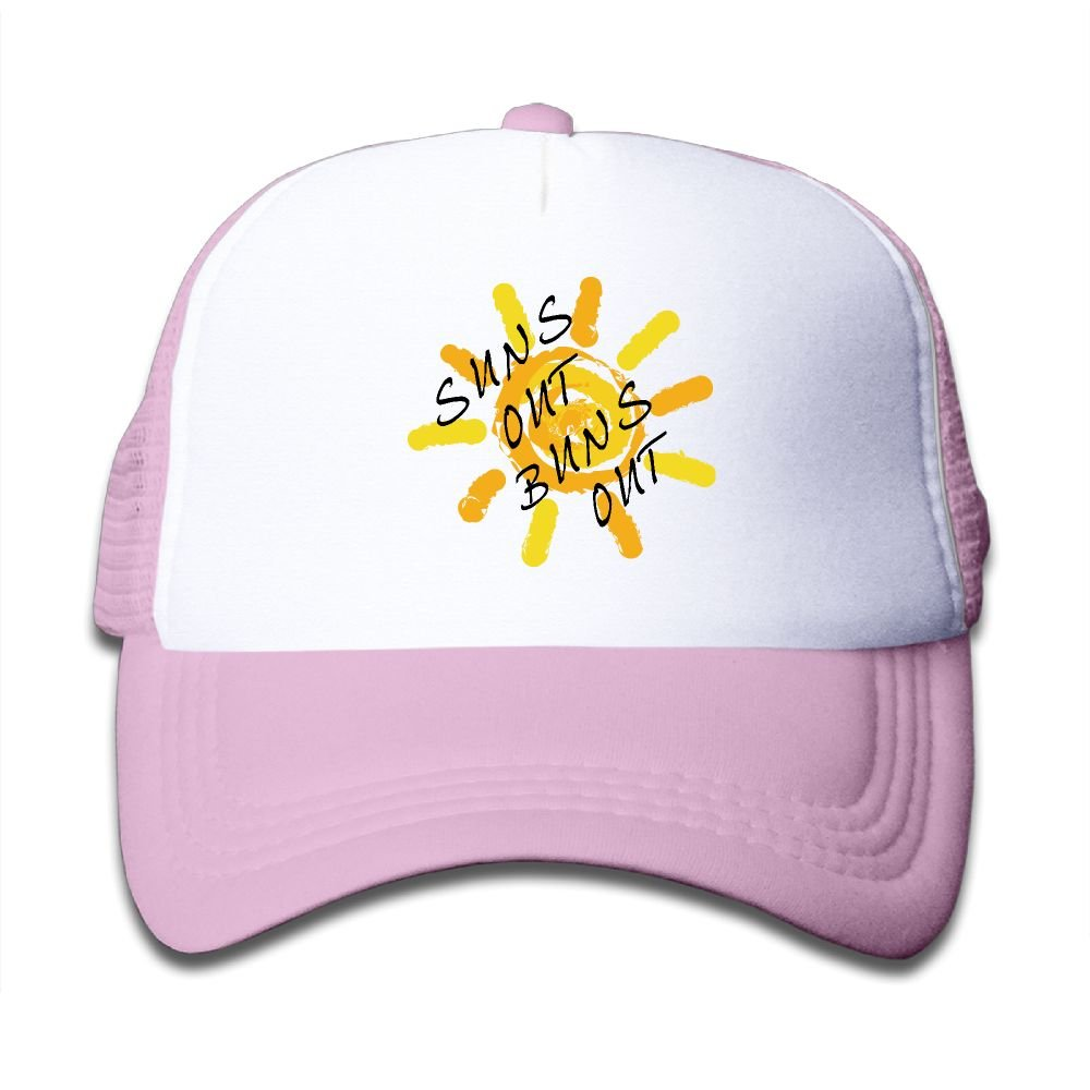 58737b7803e Suns Out Buns Out Boy   Girl Baseball Caps Mesh Hats Fashion Sunhats at  Amazon Women s Clothing store