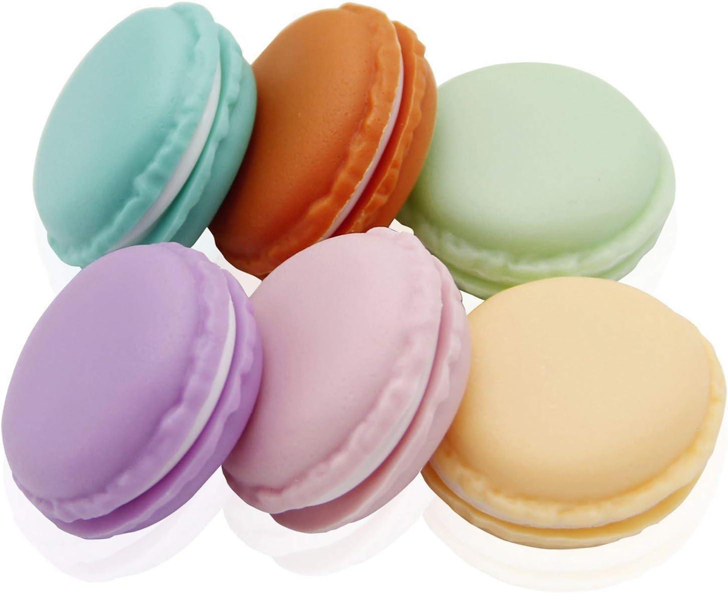 Coolrunner Macaron Case, Mini Macaron Box, Macaron Jewelry Box, Macaron Cute Pill Box, Colorful Macaron Jewelry Storage Box, Shape Storage Box Candy Cute Pill Organizer Case Container(6 PCS): Home & Kitchen