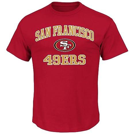 quality design 825e4 e6e9d Majestic San Francisco 49ers NFL Heart & Soul III Men's T-Shirt - Red