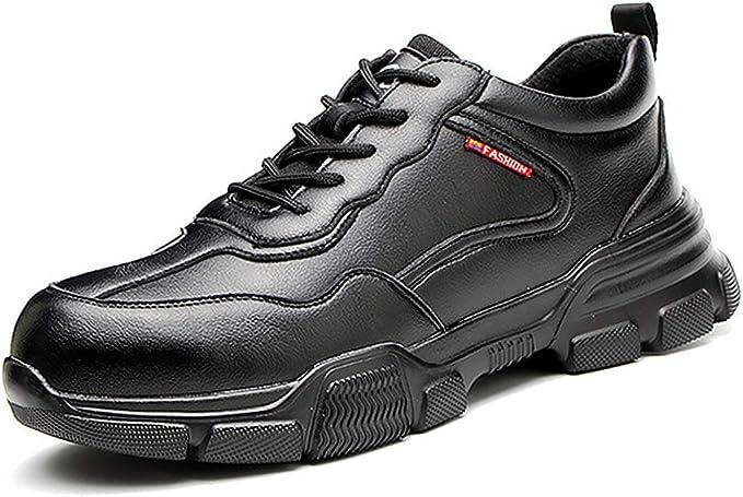Dxyap Zapatos de Seguridad PU Zapatillas de Seguridad Hombre con Puntera de Acero Ligeras Calzado de Trabajo para Comodas Zapatos de Industria y Construcción: Amazon.es: Zapatos y complementos