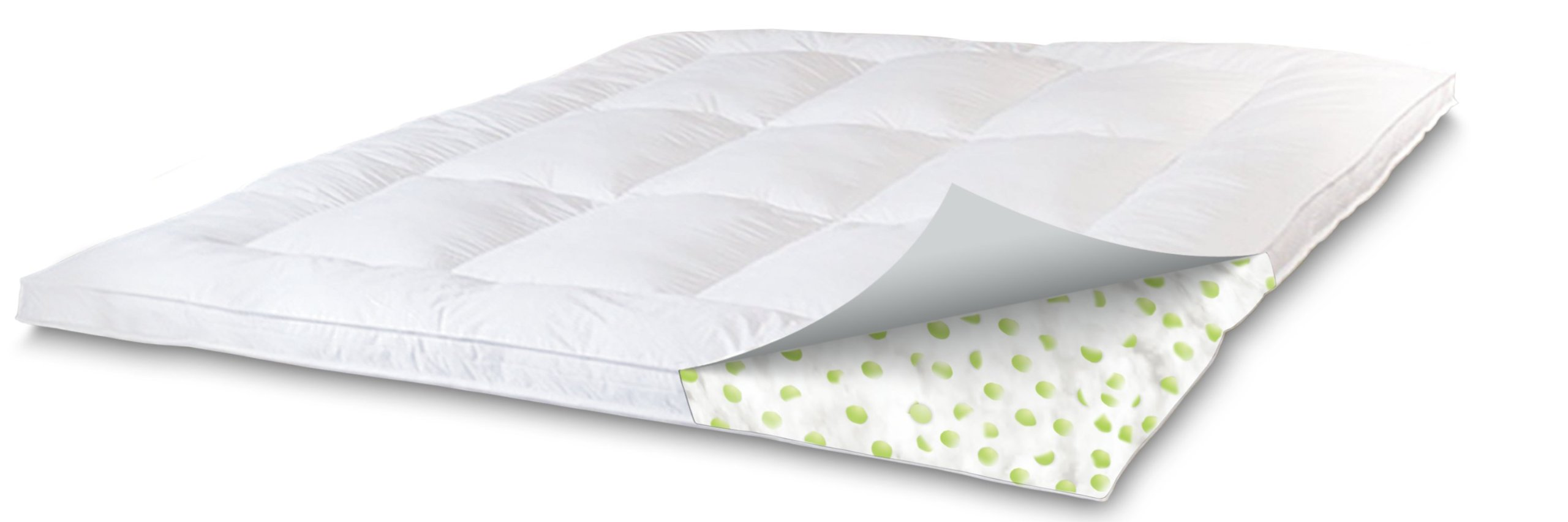 SensorPEDIC Memory Loft Classic 2.5-Inch Memory Foam/Fiber Bed Mattress Topper King Size, White