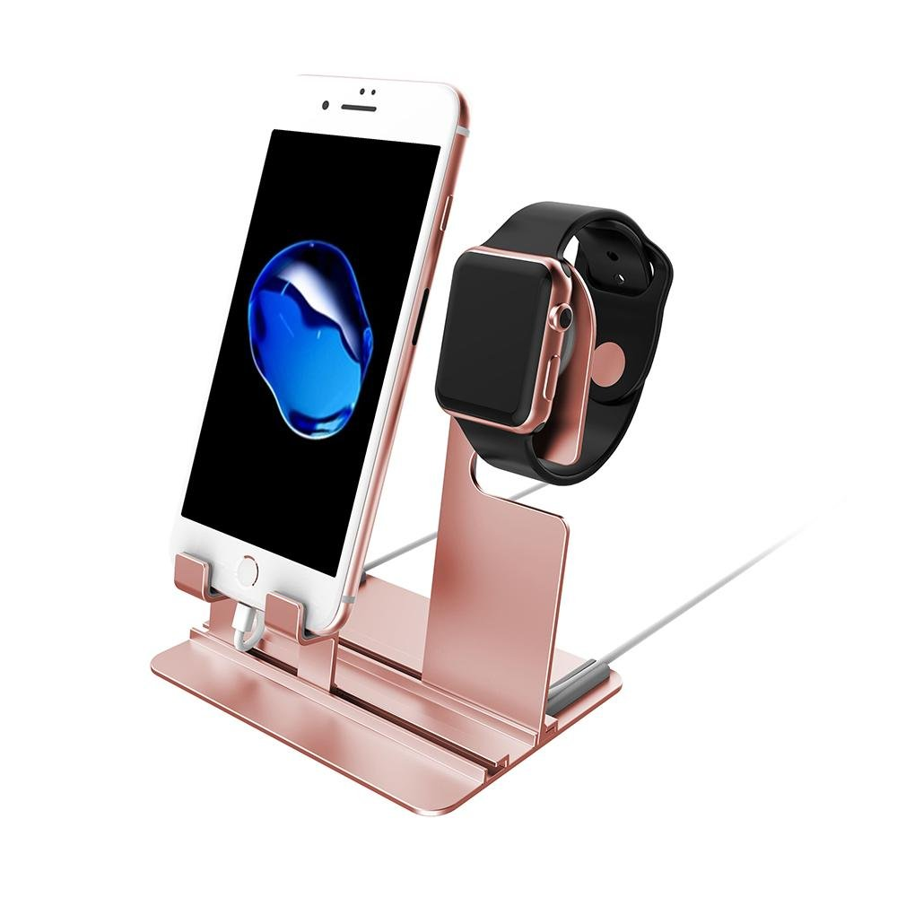 KOBWA Aluminium Stand for Apple Watch iPhone & iPad Detachable Removable Charger Dock Accessories for Apple iWatch Series 3/2/1/iPad/iPhone X/iPhone 8/8 ...