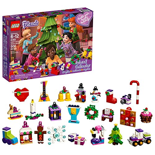 LEGO Friends Advent Calendar 41353, New 2018 Edition, Small Building Toys, Christmas Countdown Calendar for Kids (500 Pieces) -