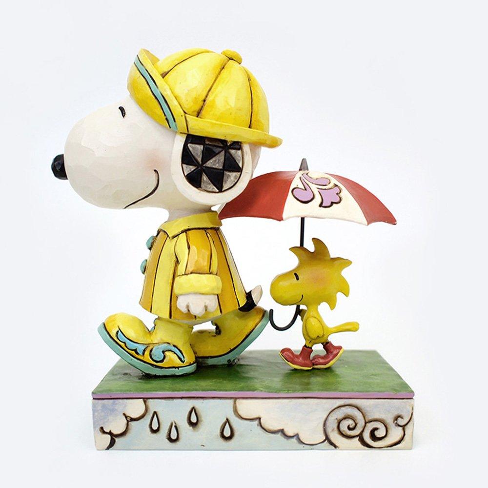 Enesco Jim Shore Peanuts Friends Through Rain or Shine Snoopy Woodstock Figure 4055654