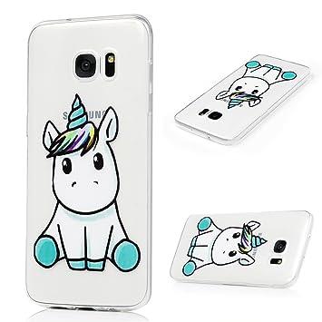 YOKIRIN Funda para Samsung Galaxy S7 Edge Carcasa TPU Silicona Suave Ultra Delgada Carcasa Pintada Cubierta Dibujos Carcasa Protección Alta ...