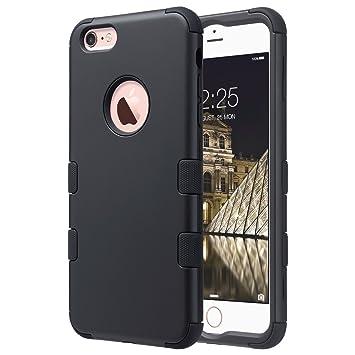 ULAK iPhone 6s Plus Funda Carcasa Case 3in1 Hybrid Rugged Silicone Shock Absorcion Protector Duro Resistente al Polvo para Apple iPhone 6 Plus/iPhone ...