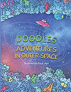 doodles adventures in outer space adult coloring book find inner peace on an