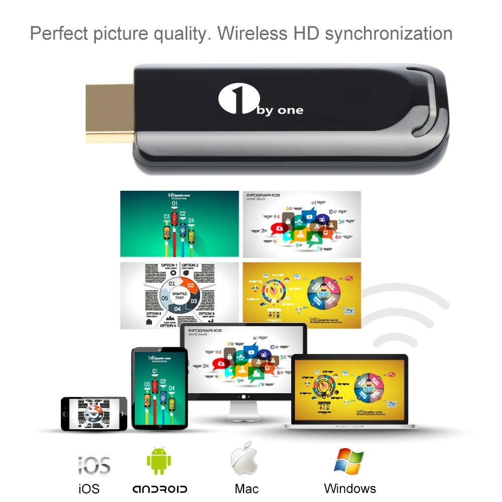 Amazon.com: 1byone 5GHz Wireless HDMI Streaming Media Player, WiFi ...