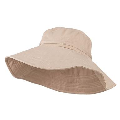 d77cc081cf8c31 E4hats Big Size Ladies Linen Wide Brim Hat at Amazon Women's ...