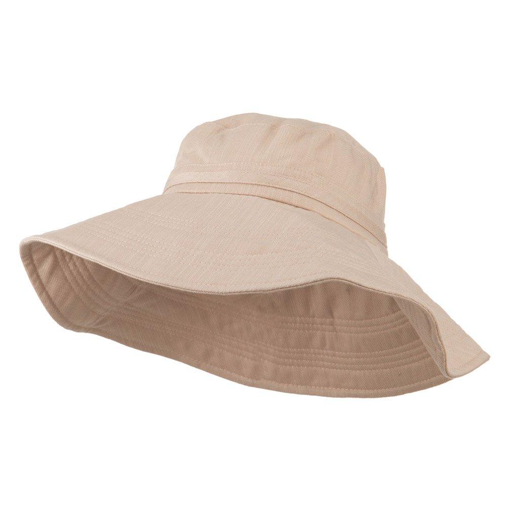e4Hats.com Big Size Ladies Linen Wide Brim Hat - Peach 2XL