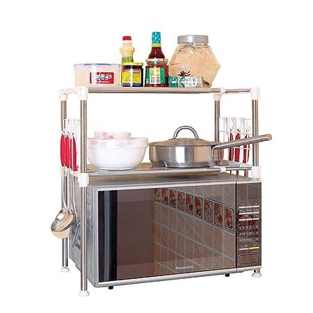Estantes de horno de microondas de acero inoxidable estantes ...