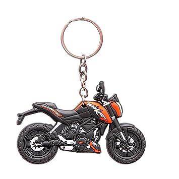 oyedeal multicolor ktm duke 200 bike shape keyrings keychains