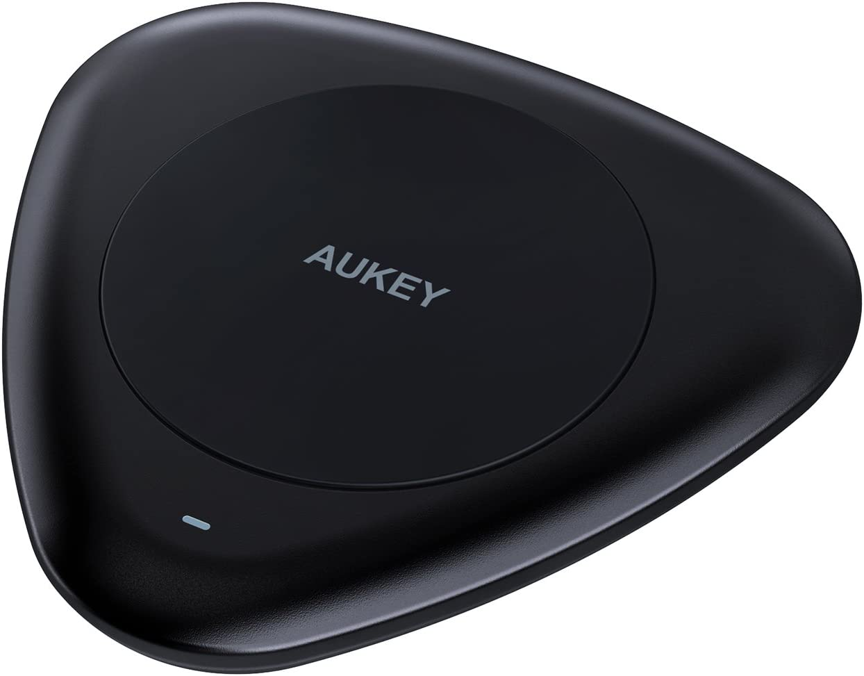 AUKEY Wireless Charger with USB C Input, Compatible with Quick Charge 2.0 Devices, for Qi Device like Google Nexus 6 Nexus 5, LG G4, Limia 950, Moto