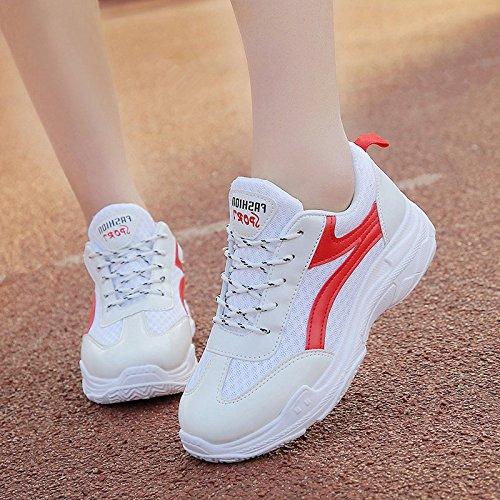 Deportivos De Estudiantes Mujer Zapatos El rojo Zapatos Para Zapatos Correr Mujeres GAOLIM Primavera Zapatos Zapatos t4Z8xnp