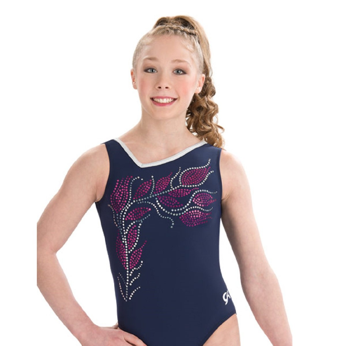 GK Elite Floral Vine Leotard Adult Small AS by GK Elite