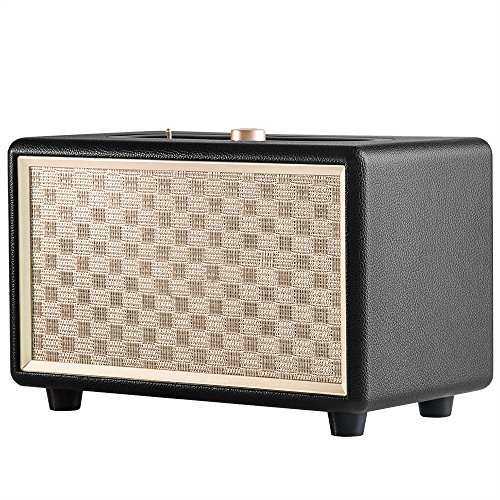 Bluetooth Speakers, TEWELL Retro Go Wireless Speaker with 24W Audio Output, Enhanced Bass and 4 Hours Playtime