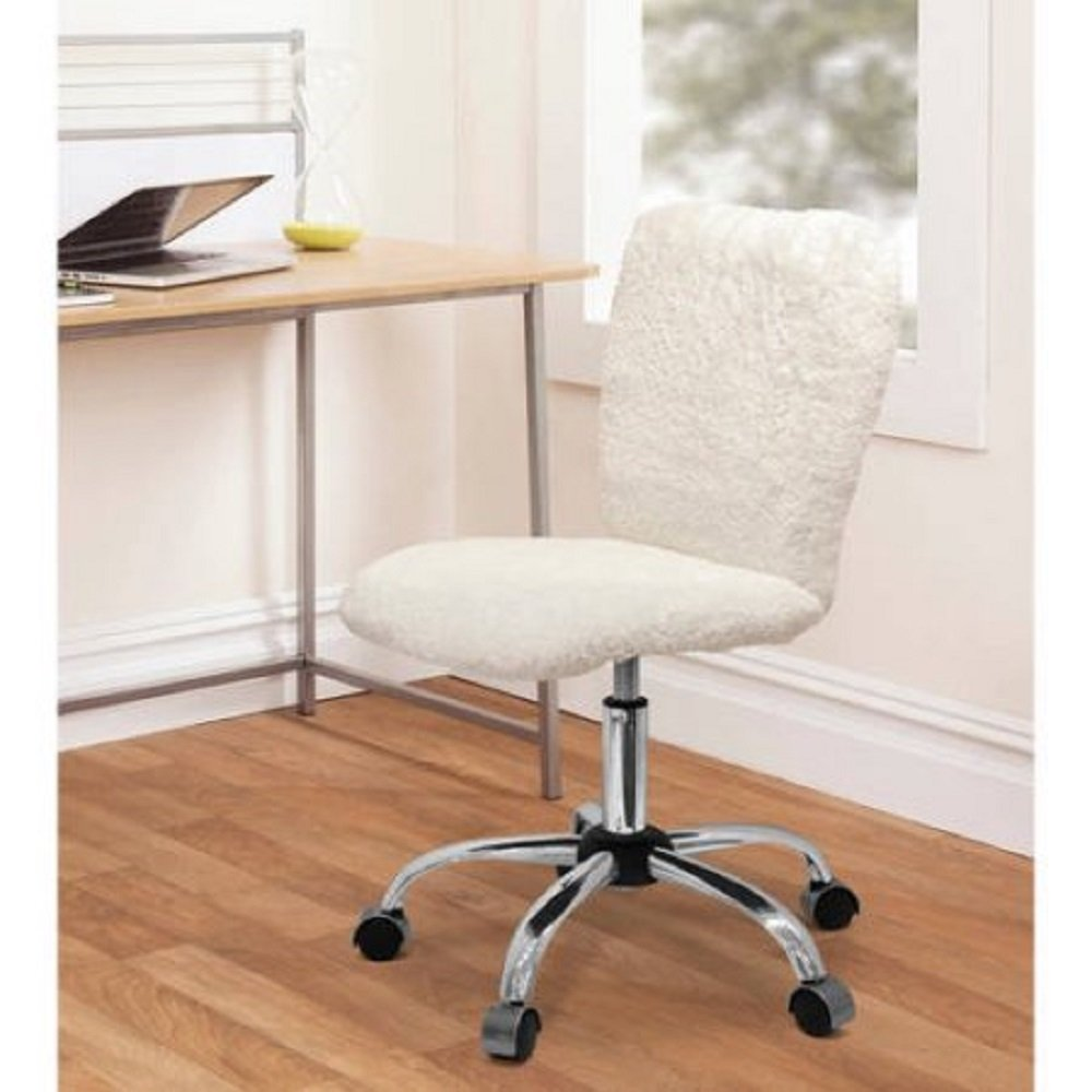 Ordinaire Amazon.com : Fun And Stylish Faux Fur Task Chair With Adjustable Height  Lever (Black) : Office Products