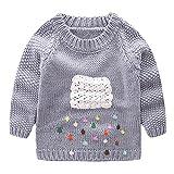 LittleSpring Little Girls' Sweater Long Sleeve Size 2T Grey