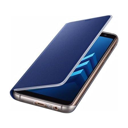 Samsung Neon Flip Cover für Galaxy A8, Mitteilungen über Kanten Illuminati, Blue