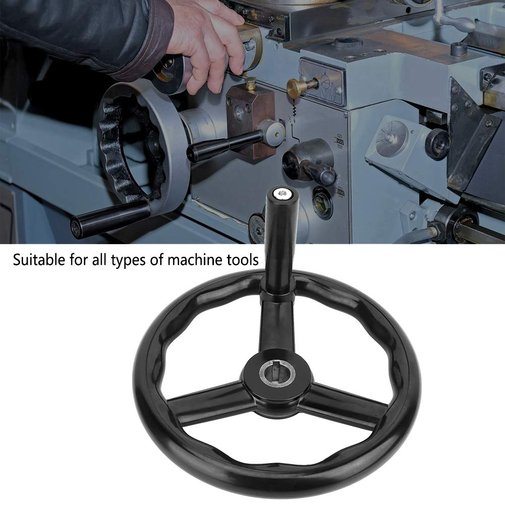 25mm Volant /à Tour /à 3 Rayons en Bakelite Anti-D/érapant Noir avec Poign/ée pour Machine-Outil Roue /à Main pour Fraiseuse Volant /à Main 250