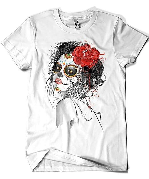 Camisetas La Colmena 3488-Dia de los Muertos (Dr.Monekers): Amazon.es: Ropa y accesorios