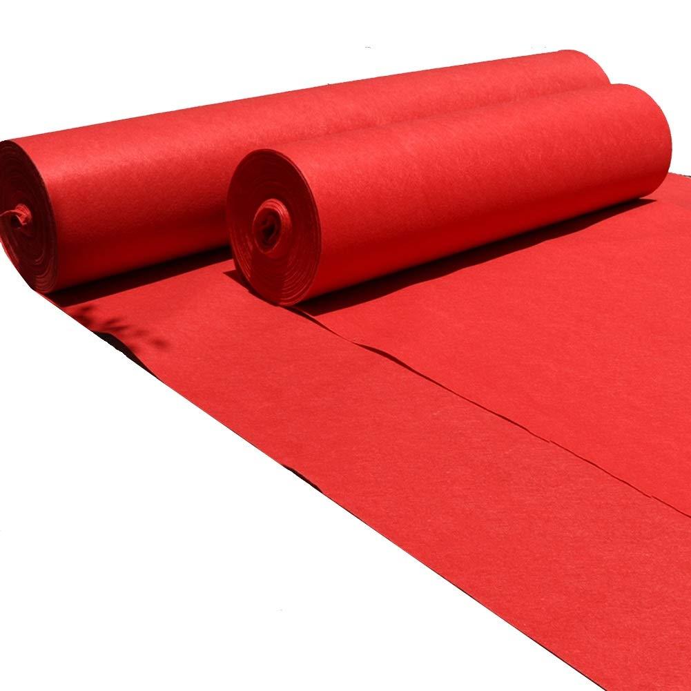 WENZHE Carpet Tappeto Tappeti E Tappetini Moquette Monouso Rete Matrimonio Celebrazione Una Volta Multifunzione, Sezione Sottile, 4 Larghezze Opzionale (Colore : Red, dimensioni : 1x50 m)