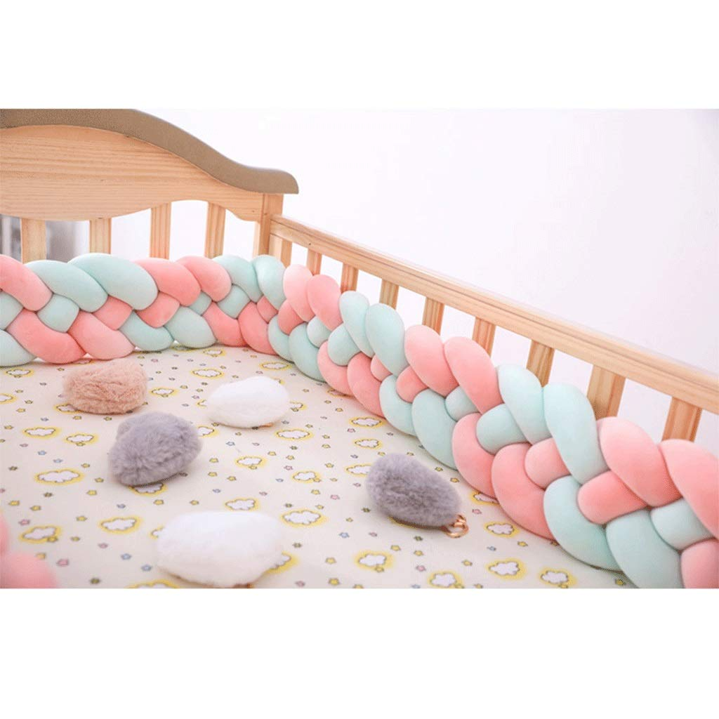 ZCXBHD Soft Baby Bed Crib Cot Bumper Pads Bedding Set Lovely Hemp Flowers Big Hugging Pillow Soft Crystal Velvet Toy Cushion Pillow Sleeping Toys Crystal Velvet Toy Gift (Color : C, Size : 2m) by ZCXBHD