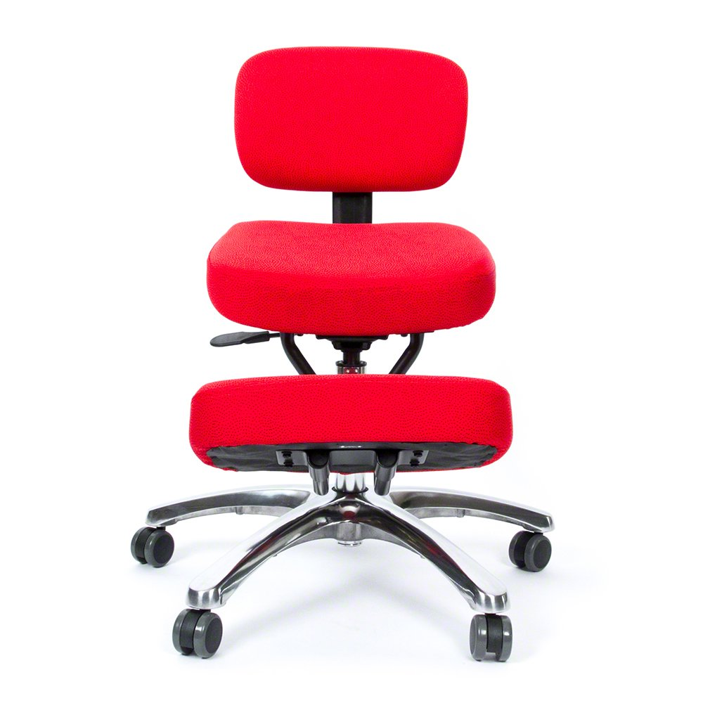 Jazzy Kneeling Chair with Back Support – Ergonomic Chair Designed to Help Relieve Back Pain and Improve Posture F1446/BK
