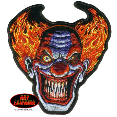 Hot Leathers, ANGRY CLOWN, Iron-On / Saw-On Rayon PATCH - 5