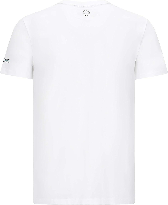Mercedes Benz AMG Petronas F1 Mens Lewis Hamilton Helmet T-Shirt White