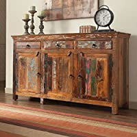 Coaster 3 Drawer 3 Door Sideboard in Reclaimed Wood
