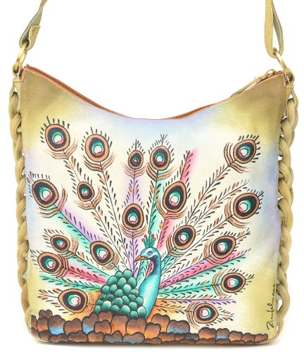 ZIMBELMANN BELLA Genuine Nappa Leather Hand-painted Hobo Shoulder Bag by Zimbelmann