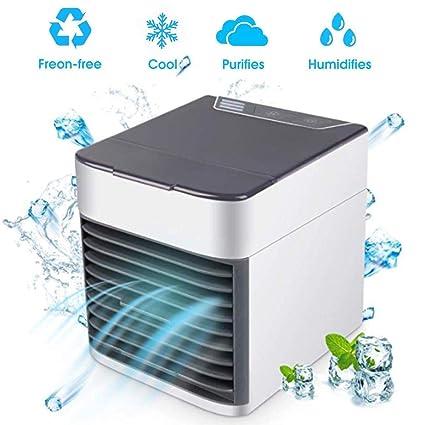 Mini Portable Air Conditioner Fan Noiseless Evaporative Air Humidifier Air Cooler Mini Cooler,3 Gear Speed Office Cooler Humidifier /& Purifier Personal Space Air Conditioner