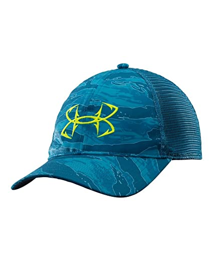 6798b08650c Under Armour Men s UA Fish Hook Logo Cap One Size Fits All SAPPHIRE LAKE