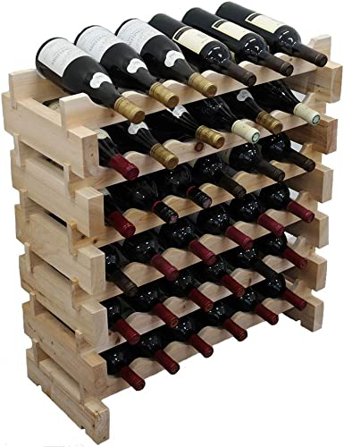 Wine-Rack-Pine-Wood-Stackable-Storage-Stand-Display-Shelves