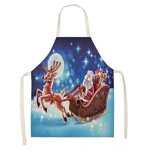 mhde Delantales 1 Piezas Delantal De Navidad Santa Claus Muñeco De ...