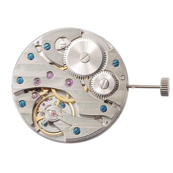 17 joyas Vintage Hand Winding 6497 Classic mecánica hombres del reloj movimiento Relojes para partes: Amazon.es: Relojes
