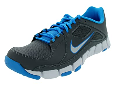 reputable site 1003a aadcc Amazon.com   NIKE Flex Show TR Grey Blue Mens Athletic Trainer   Fashion  Sneakers